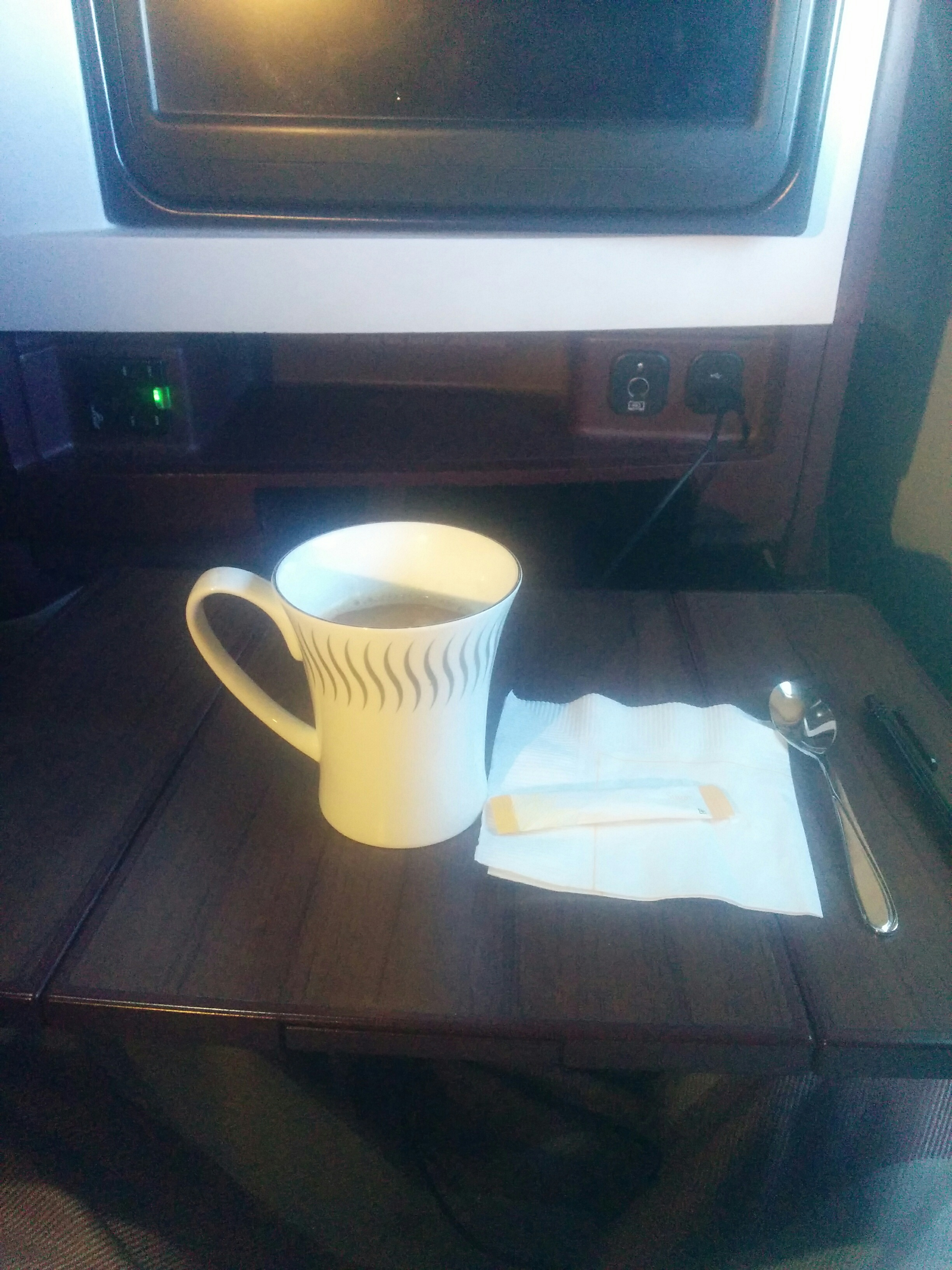 Hot Chocolate in Jet Airways Business Class Flight
