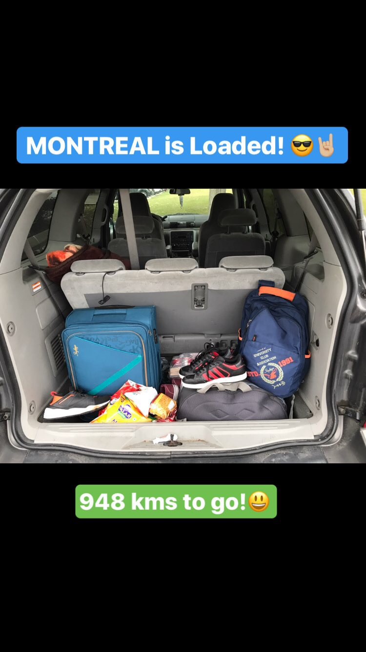Windsor to Montreal, Quebec Trip