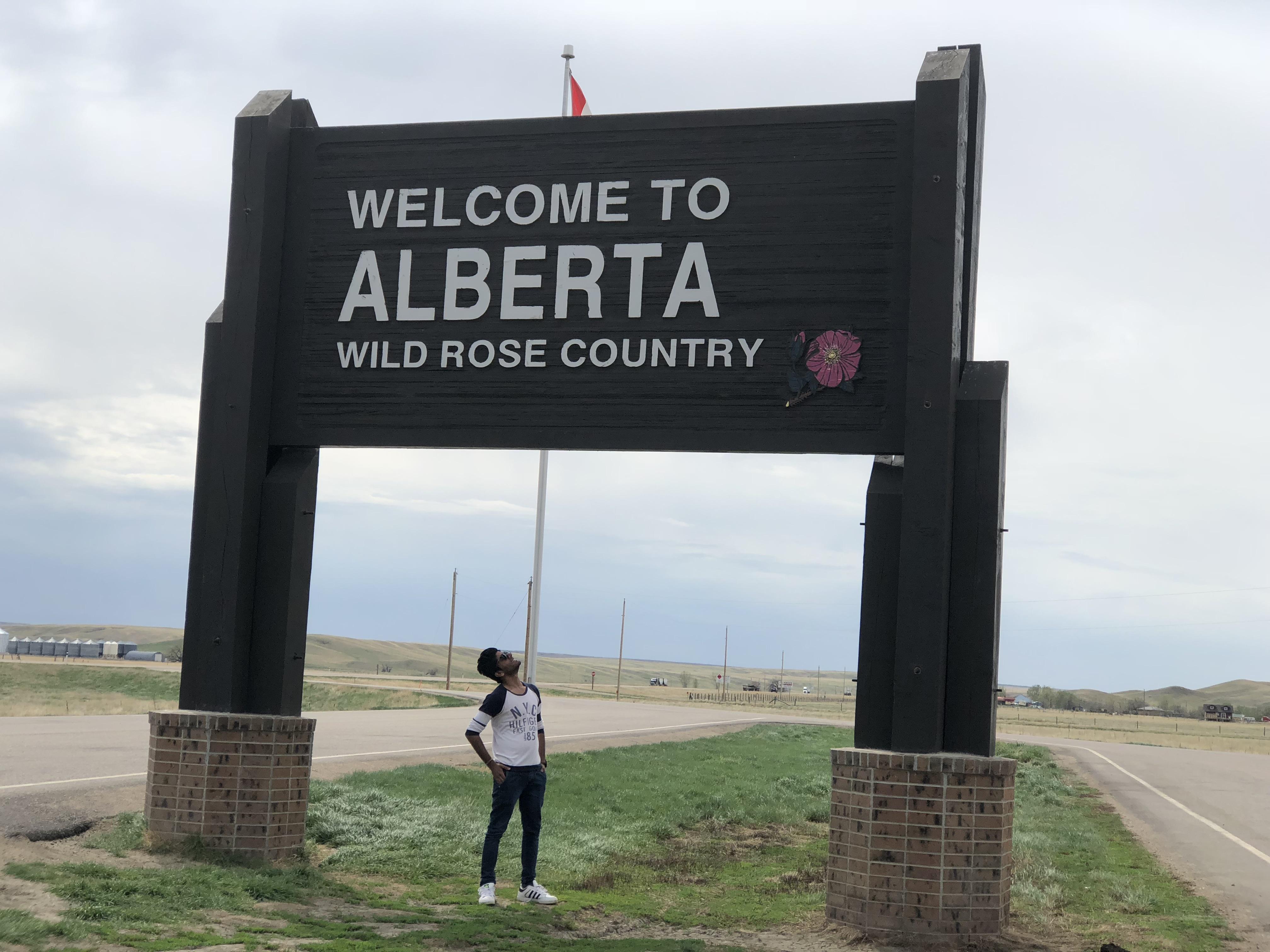Alberta Saskatchewan Border